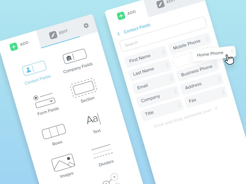Kizen - Editor 1 interface click drag ux editor uidesign ui