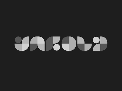 Unfold - Geometric Mark bw monochromatic grayscale blocks grid clean modern illustration branding geometric mark logo