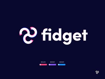 Fidget Logo circle spin logo mark mark brand colots identity icon swirl circles spinner fidget spinner fidget branding logo