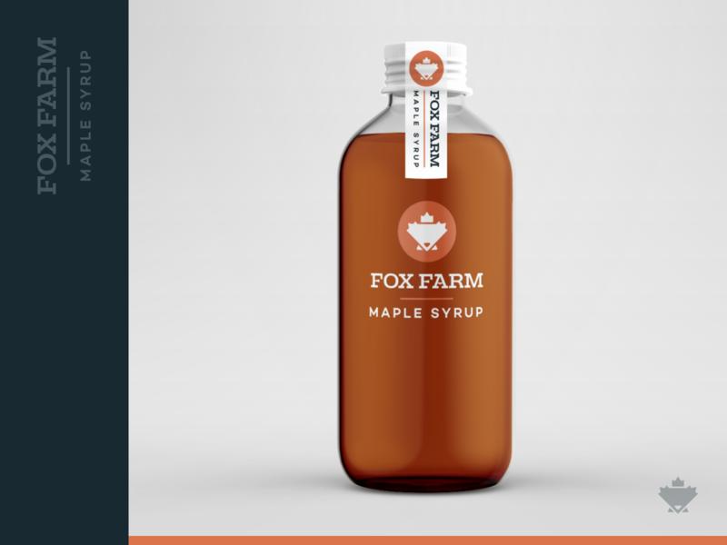 Fox Farm Maple Syrup - Mockup fox logo product mock bottle leaf maple leaf breakfast maple farm fox farm fox identity brand branding syrup mockup