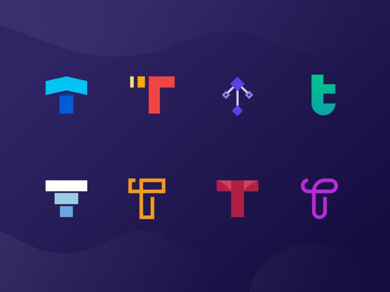 """T"" logo design brand identity branding brands identity mark logo"