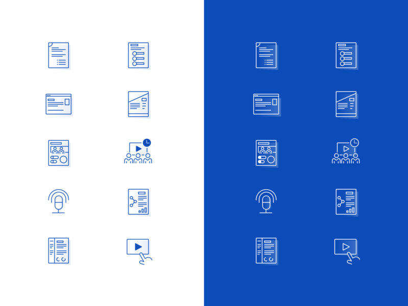 Document Icons lines line icon stroke icon strokes interactive player branding icon set paper research documents illustration design icons