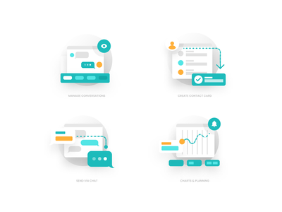 Mini Illos - Messaging product illustration design icon design callout call out interface web ux ui element ui iconography illustrations icons icon set illos illustration icon