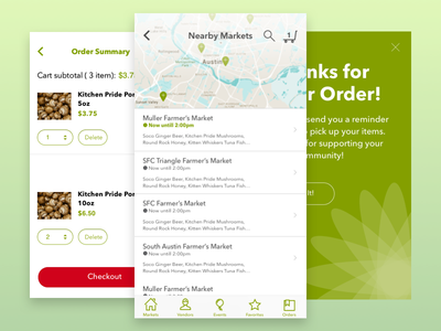 Farmers Market Purchasing Experience ecommerce ui maps sketch mobile