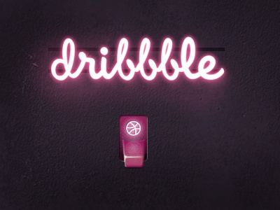 Neon with switch neon neon glow dribbble debut switch lighting