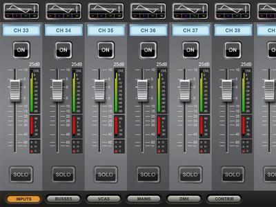 Soundcraft ViSi Main Screen