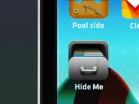 Hide Me icon drawer cabinet grey app application retro ios