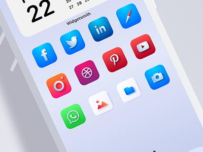 iOS 14 - Icon set design branding illustration icons design icons pack gumroad skeuomorph skeumorphism sketchapp custom bigsur macos ui levi ortiz ios icons iconset