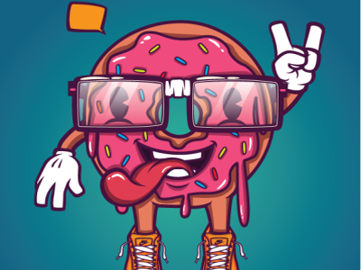 Vector Donut Guy adidas nike donut ui ux mexican food sale mexico design print vector children book sketch artwork cartoon levi ortiz illustration character