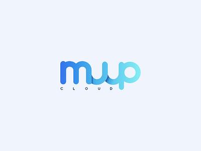 Muup Logo cloud logo design logotype brand design brand identity brand minimal web app ux vector ui branding logo design levi ortiz