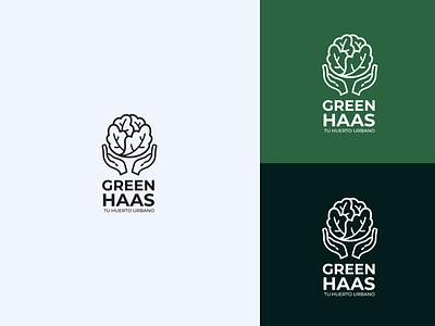 GreenHaas Logo brand identity logofolio freelancer freelance logo design branding design branding brand orchard app icon ux ui logo design print vector illustration levi ortiz