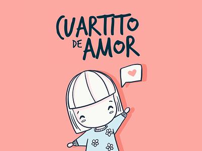 Cuartito de Amor - Logo childrens illustration childrens book cute brand logo design character design ux ui logo branding children book vector artwork cartoon character illustration levi ortiz