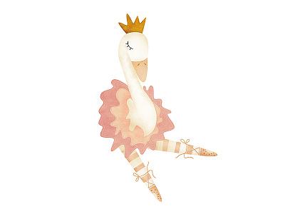 Swan cute sketch cartoon character children book design illustration mexico levi ortiz swan