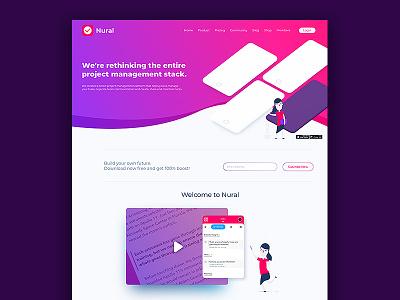 Nural Webiste ux designer sketch levi ortiz nural web design ui ux website