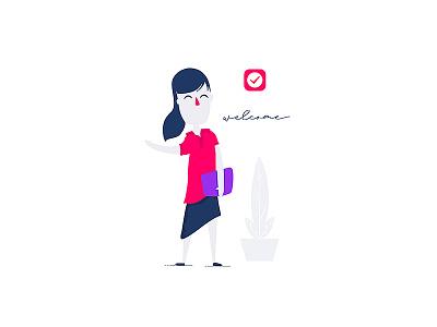 Nural Welcome clean minimal ui ux app welcome ui design ux design mexico levi ortiz cartoon character nural