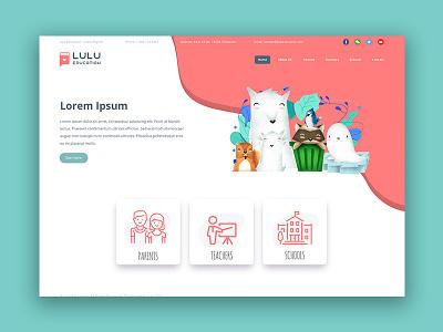 Lulu Education - Concept cute mexico branding cartoon children book design character illustration levi ortiz ux design web desgin ui ux
