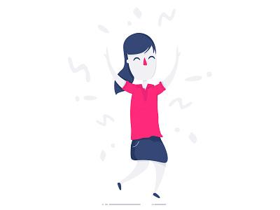 Celebration ux design vector branding ui artwork levi ortiz cartoon illustration character