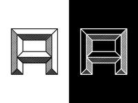 Emboss Font Black & White