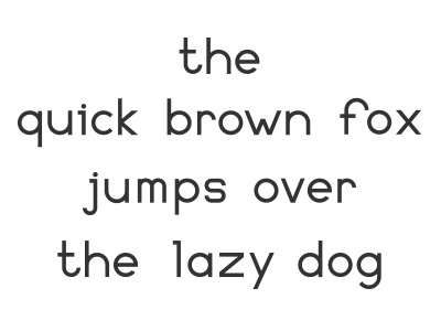 Font Name typography letters black  white alignment spacing