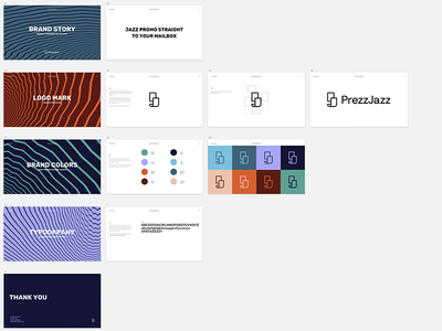 Brandbook Prezzjazz promo pr prezzjazz sketch clean styleguide color typography branding brand brandbook