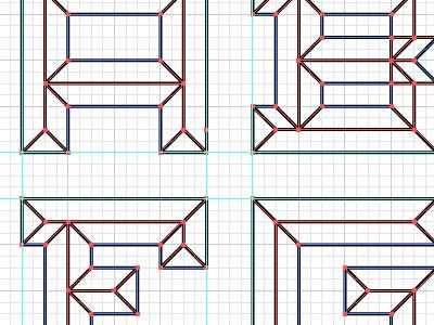 Emboss Font Lines emboss letters line illustrator