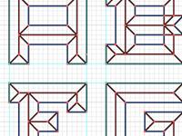 Emboss Font Lines