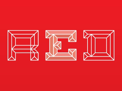 Emboss Font Red red lines emboss