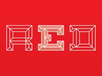 Emboss Font Red