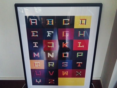 Framed poster poster frame alphabet color