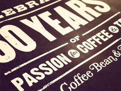 The Coffee Bean & Tea Leaf Anniversary logo