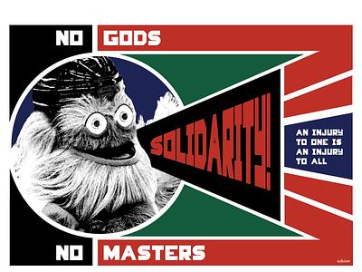 Constructivist Worker Gritty constructivism russian constructivism screenprint iww parody propaganda communist socialist antifa gritty rodchenko