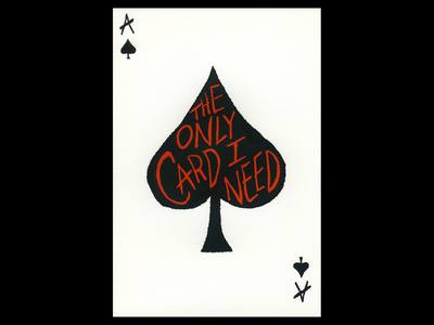The Ace of Spades ace of spades procreate madeonipad poster illustration design chicago madeatlillstreet screenprint playing card