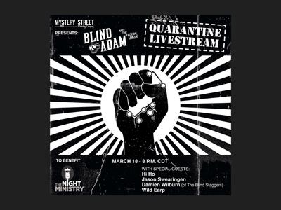 Blind Adam and the Federal League - Quarantine Livestream procreate madeonipad punk punk rock rock chicago soap raised fist coronavirus covid19