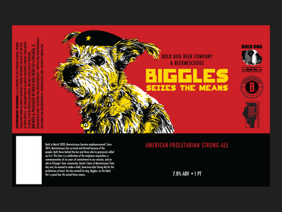 Biggles Seizes The Means madeonipad beer art beer label illustration soviet realism beer chicago