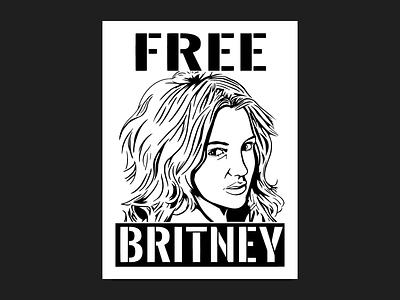 Free Britney procreate sticker t-shirt britney spears freebritney illustration adobe illustrator