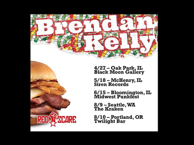 Brendan Kelly Keep Walkin' Pal poster chicago rock punk brendan kelly red scare records arbys the lawrence arms music