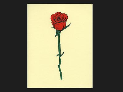 A rose madeatlillstreet procreate apple pencil madeonipad illustration ipad pro screenprint rose