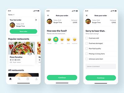 Bolt Food rate order ux  ui mobile app feedback rating food app rate order rate food rate bolt food food bolt