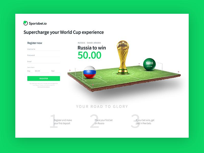 World Cup 2018 Landing page landing page soccer russia world cup world cup 2018 betting keypad gambling sports betslip bet sportsbet