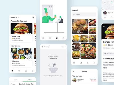 Bolt Food ui ux product design restaurant order mobile app design mobile app illustration food delivery food app bolt food bolt