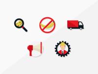 Product recall - icon set 2