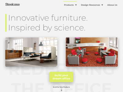 Steelcase Landing Page