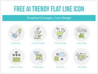 Free Vector Trendy Flat Line Icon