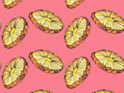 Pineapple Slices slices pineapple illustration vector design apparel textile seamless pattern geometric
