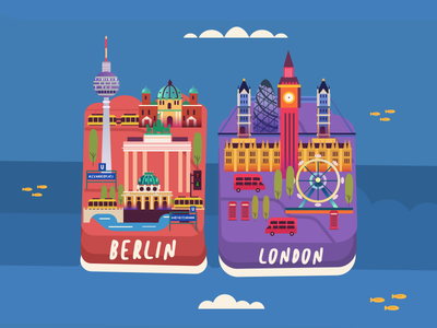 Berlin | London editorial illustration thy game art summer illustration germany uk london