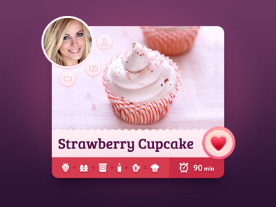 Sweet Recipes recipe cupcake ui ios strawberry time like sweet comment profile cooking concept