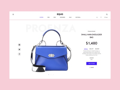 Fashion Store Product Card ux ui interface e-commerce bag typography web card fashion store shop product