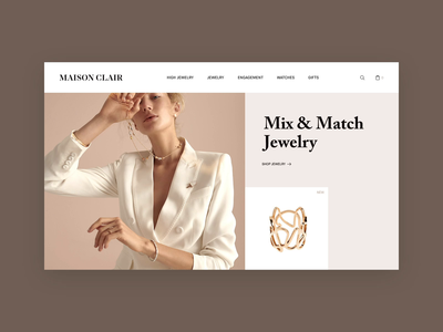Maison Clair Jewelry Store luxury typography video web design fashion jewelry store jewelry branding concept interface layout ux ui motion animation design web