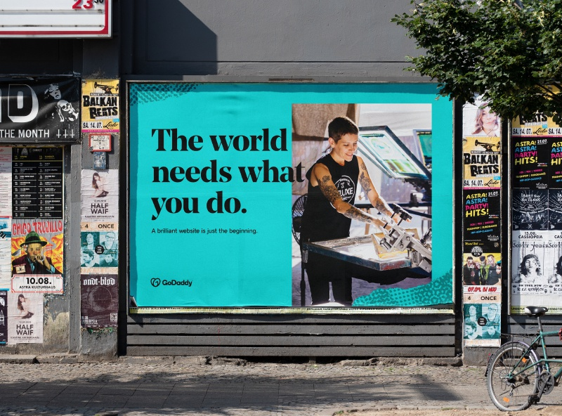 The world needs what you do. signage bus stop subway out of home billboard advertising campaign advertising