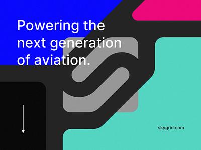 Skygrid - Mark / Letter & Visual Exploration skygrid austin texas austin appicon icon app aerospace aero fleet route planet drone mark logotype logo